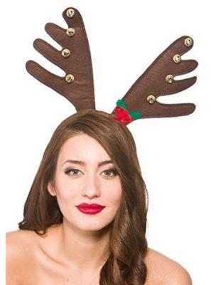 Deluxe Reindeers Antlers with Bells XM-4621