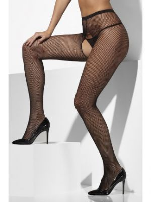 Fishnet Tights Black Crotchless 21432