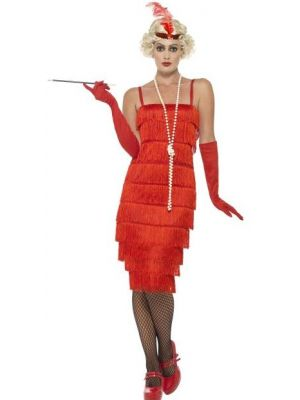 Flapper Red Long Costume  45501
