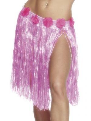 Hula Skirt Neon Pink 25705