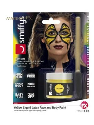 Liquid Latex Pot and Sponge Aplicator Yellow 46239