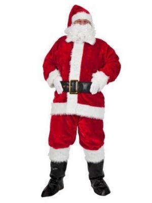 Luxury Plush 8 PC Santa Costume  XM-4568
