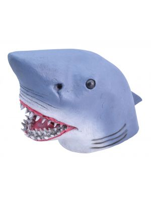 Shark Full Head Rubber Mask Fancy Dress JW Range