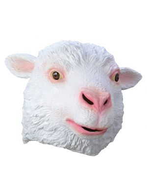 Sheep Full Head Rubber Mask Fancy Dress JW Range