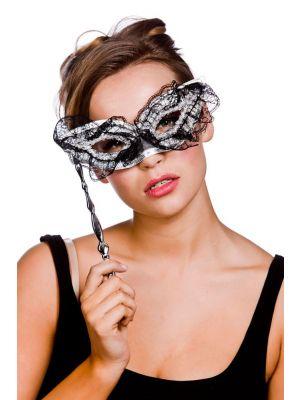 Black and Silver Lace Eyemask MK-9803