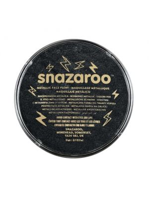 Metallic Electric Black Snazaroo 18ml Face Paint 1118110