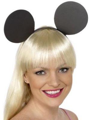 Mouse Ears on Headband Black 22558