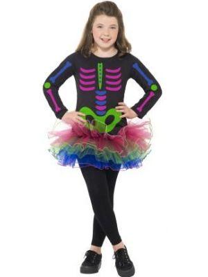 Neon Skeleton Girl Costume  24387