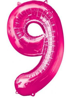 Number 9 Pink Foil Balloon 28299