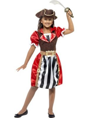 Pirate Captain Girls Costume  41094