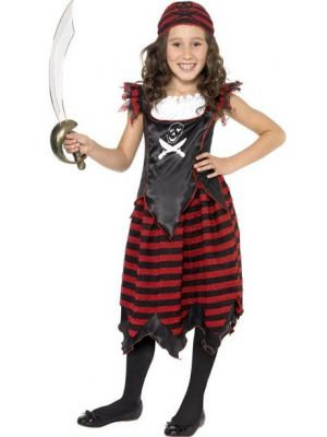 Pirate Skull & Crossbones Girl Costume  32341