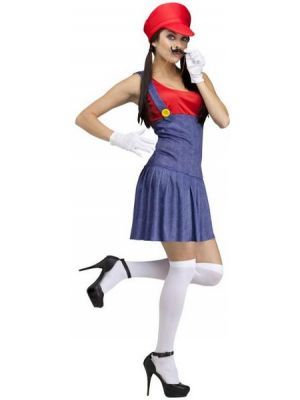 Pretty Plumber Red Costume  110834