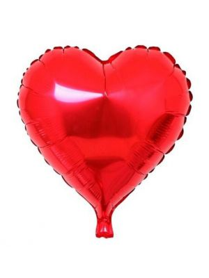 Heart Shaped Red Valentines Love Helium Balloon