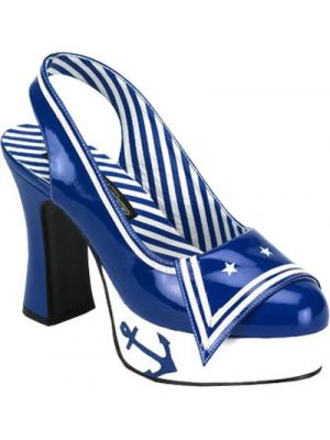Sailor Slingback Shoes