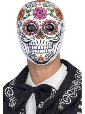 Senor Bones Mask White Fancy Dress 45218