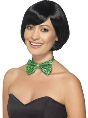 Sequin Bow Tie Green 44707