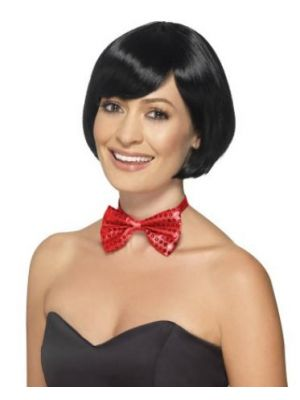 Sequin Bow Tie Red 44709