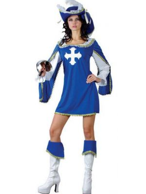 Sexy Musketeer Blue Costume  SF-0080
