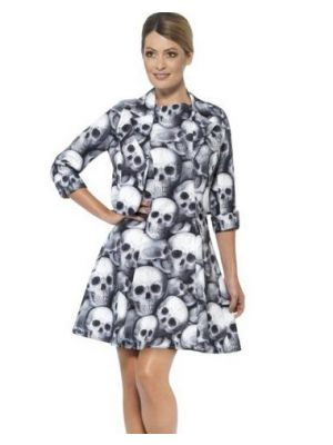 Smiffy's Skull Woman Suit Fancy Dress 43461