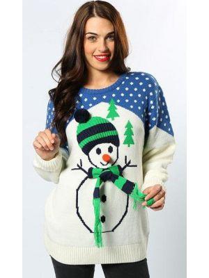 Snowman White Jumper CS422