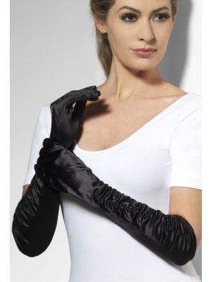 Temptress Gloves Black Long 26278