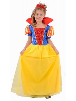 Snow Girl Fairy Tale Fancy Dress Costume U37777