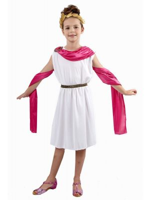 Child Goddess Roman Green Fancy Dress Costume U37887