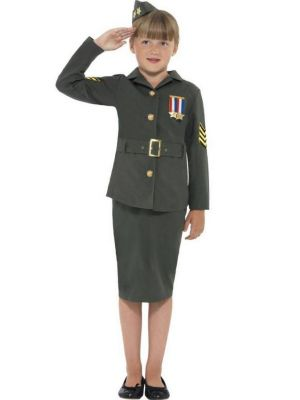WW2 Army Girl Costume  41104