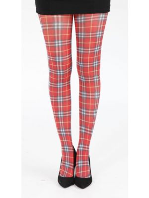 Tartan Printed Tights - Camel Thomson Multi 5055419608069