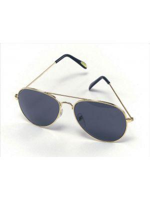 Glasses Aviator Gold Smiffys