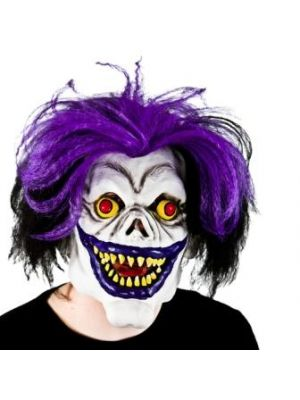 Scary Big Mouth Clown With Hair MK-9912