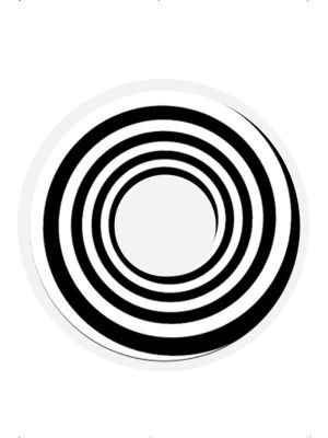 Accessoreyes Black Spiral Black and White 25549