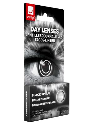 Black Spiral Contact Lenses 1 Day