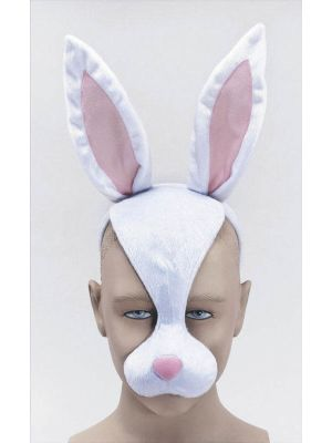 Bunny Easter Face Mask Half Face Noise JW Fancy Dress