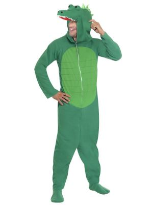 Crocodile Costume with Hooded All in One 23631 Smiffys