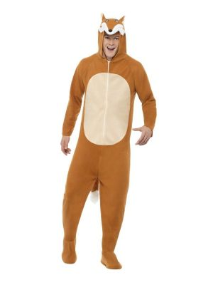 Fox Costume All in One Hooded Smiffys 27867