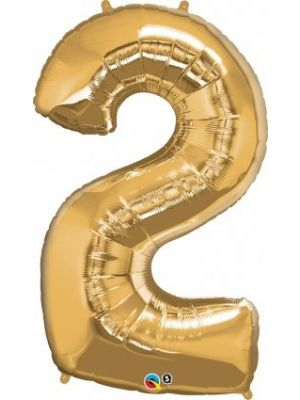 Number 2 Gold Foil Balloon 28246