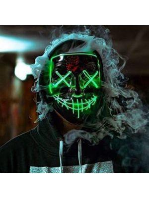 Purge LED Mask - Movie Quality - Smiffys Purge Masks (Black)