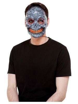 Skeleton Purge Mask - Light up LED - Grey