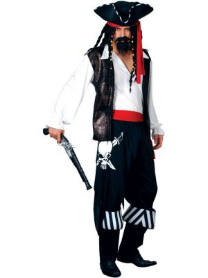 High Seas Buccaneer Pirate Costume EM-3021