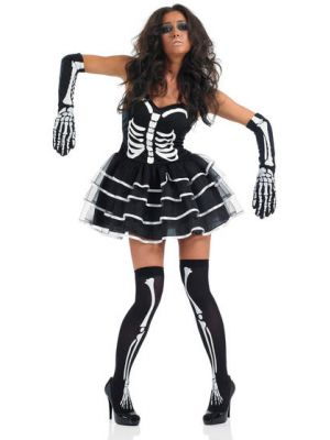 Skeleton Tutu Costume 3075