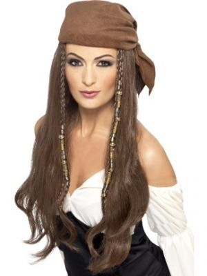 Pirate Wig Brown 21398