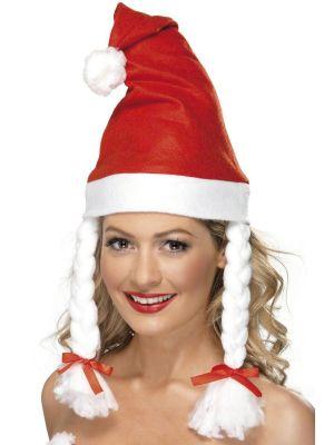 Miss Santa Claus Hat Fancy Dress Xmas