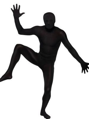 Second Skin Suit Black Smiffys 39338