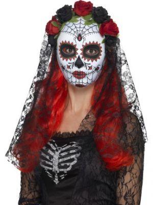 Day of the Dead Senorita Mask Full Face 44639