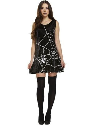 Adult Sequin Spider Web Dress V20 333