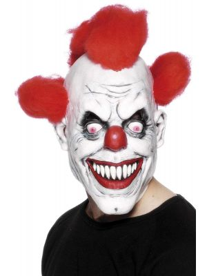 Clown 3/4 Mask with Hair - Adult, One Size 26385
