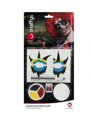 Twisted Clown Makeup Kit Multicolour 44740