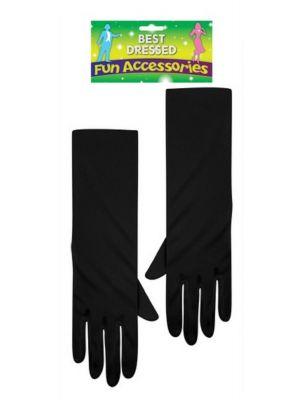 Long Gloves Black 40 cm U09650
