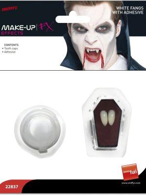Vampire Fangs White With Adhesive Smiffys 22837